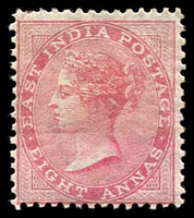 Lot 21484:1868 Die II Wmk Elephant SG #73, 8a rose Die II, small crease, Cat £70.
