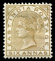 Lot 21486:1876 New Values Wmk Elephant SG #80, 6a olive-bistre.