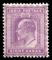 Lot 21490:1902-11 KEVII SG #133 8a purple.