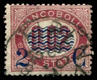 Lot 24825:1878 Postage Due Overprints SG #23, 2c on 0.02l dark lilac-red, Cat £32.