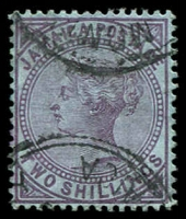 Lot 24982:1905-11 QV Types SG #56 2/- purple/blue.