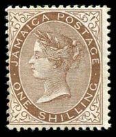 Lot 24981:1905-11 QV Types SG #53 1/- brown, Cat £26. (2)
