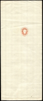 Lot 917:1869 No Wmk HG #E2 1d red on vertical laid paper stamp to right of middle, unused.