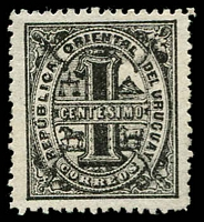 Lot 4087 [3 of 3]:1866-76 Large Numeral Perf 12 SG #37,38,38b 1c black (mint), 5c blue & 5c deep blue, Cat £24 (9)