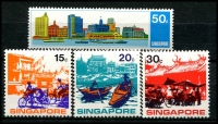 Lot 4365 [2 of 2]:1971 Visit ASEAN Year SG #150-4 set, couple minor gum blemishes, Cat £10. (5)