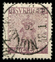 Lot 25607:1858-72 New Currency SG #7a 9ö pale purple, Cat £300.
