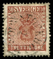 Lot 4409:1858-72 New Currency SG #10 30ö red-brown, Cat £44.