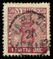 Lot 4410:1858-72 New Currency SG #11 50ö deep lake, Cat £140.