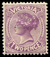 Lot 2081:1901 Re-Issue of No Postage Designs Perf 12x12½ SG #377 2d reddish violet, Cat £14.
