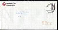 Lot 2707:Bacchus Marsh: - WWW #200 33mm 'BACCHUS MARSH/22JUL1991/11.00AM/VIC AUST 3340' on stampless APost cover  Renamed from Ballan PO 1/7/1850.