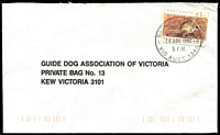 Lot 2292:Bacchus Marsh: - WWW #250 31mm 'BACCHUS MARSH/14AUG1992/5 P.M./VIC AUST 3340' on 45c on cover.  Renamed from Ballan PO 1/7/1850.