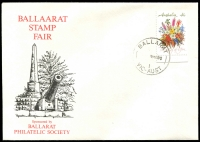 Lot 11411:Ballarat: WWW #490C 'BALLARAT/   9MR90/1/VIC-AUST' (time turned off) on 41c Flowers on Ballaarat Stamp Fair cover.  PO 1/11/1851.