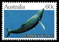 Lot 3469:1982 60c Whale Essay BW #930(E)1, showing solid blue background, fresh MUH, Cat $350.