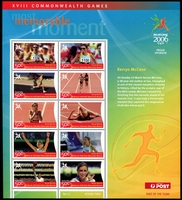Lot 635:2006 Commonwealth Games Most Memorable Moment Kerry McCann sheetlet.
