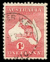 Lot 689:1d Red Die IIA [KR3] Shading break below Cape Leveque etc