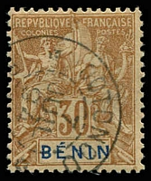 Lot 19401:1894 'BENIN' SG #41, 30c cinnamon/drab, Cat £13.