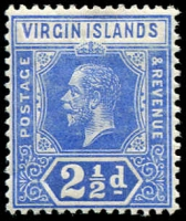 Lot 20051:1913-19 KGV Wmk Mult Crown/CA SG #72, 2½d bright blue (10)