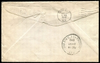 Lot 19912 [2 of 2]:1942 (Aug 17) late use of 1897 Jubilee 1c, 5c x2 & 8c on Special Delivery cover from Midland (Ontario) to USA, Chicago backstamps.