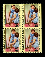 Lot 19:USA - Sister Kenny Foundation: 'girl on crutches looking in mirror' block of 4.