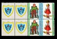 Lot 22:USA - Sister Kenny Foundation: block of 8 with 'KF' x4 and se-tenant 'boy in wheelchair and girl and crutches' x2.
