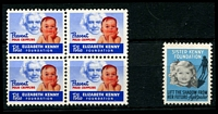 Lot 24:USA - Sister Kenny Foundation: 'baby' block of 4, plus 'girl and shadow' single.