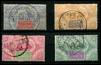 Lot 3408:Salt Department: 1893 250m, 500m, 1L & 2L, cds. (4)