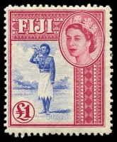 Lot 3432:1954-59 QEII Definitives SG #295, £1 ultramarine & carmine,