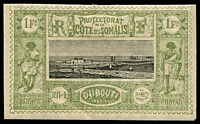 Lot 19915:1894-1902 Pictorials SG #101 1f black & olive-green, Cat £33