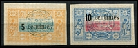 Lot 19918:1902 Surcharges SG #114-55c on 40c & 10c on 50c, Cat £36 (2)