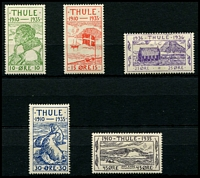 Lot 3612:1935 25th Anniversary of Thule: set of 5.