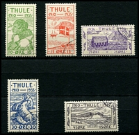 Lot 3613:1935 25th Anniversary of Thule: set of 5, CTO with full unmounted gum