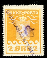 Lot 3597:1915-37 Pakke-Porto (A) Perf 11¼ SG #P5A 2ø yellow, Cat £95.