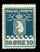 Lot 3598:1915-37 Pakke-Porto (A) Perf 11¼ SG #P7A 10ø blue Cat £42.