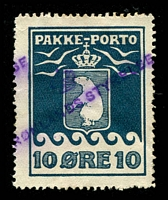 Lot 3600:1915-37 Pakke-Porto (A) Perf 11¼ SG #P7A 10ø blue Cat £60.