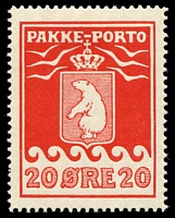 Lot 3602:1915-37 Pakke-Porto (A) Perf 11¼ SG #P9A 20ø red.