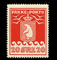 Lot 4186:1915-37 Pakke-Porto (A) Perf 11¼ SG #P9A 20ø red.