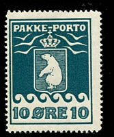 Lot 4185:1915-37 Pakke-Porto (A) Perf 11¼ SG #P7A 10ø blue Cat £42.
