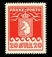 Lot 4187:1915-37 Pakke-Porto (B) Perf 10¾ SG #P9B 20ø red Cat £46.