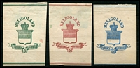 Lot 23576:1878 cutout set of 3 on whitish paper, reprint? (3)