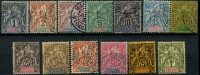 Lot 22216:1894 'DIEGO-SUAREZ ET DEPENDANCES' SG #38-50 complete set of 13, Cat £275.