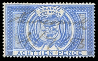 Lot 23941:1882-86 SG #F5 1/6d blue, fiscal cancel, Cat £35 for postal cancel.