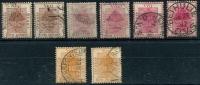 Lot 27004:1868-94 SG #2-9 near complete set of shades ex 1d pale brown, Cat £36. (8)