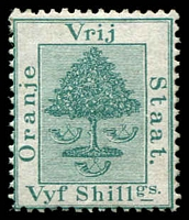 Lot 27006:1878 SG #20 5/- green, MNG, Cat £13