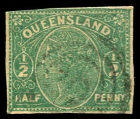 Lot 7841:5: '5'-in-concentric-circles of Mayne on ½d Wrapper cut-out.