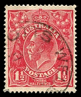 Lot 1678:Notts Well: - '[N]OTTS WELL/17AP26/[STH AUST.]' on 1½d red KGV. [Rated R]  RO 5/2/1910; closed 31/12/1964.