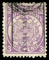 Lot 28925:1885 Surcharges: SG #192 ½d on 3d mauve P12½x12.