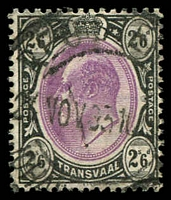 Lot 28927:1902 KEVII Wmk Crown/CA: SG #253 2/6d magenta & black, Cat £18.