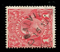 Lot 2329:Coalville: WWW #10, unframed 'COALVILLE/15AU/17/VIC[TORIA]' on 1d red KGV  PO 1/8/1888; closed 22/4/1960.