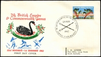 Lot 4839 [2 of 5]:1962 Commonwealth Games set of 25 Pictorial cancels for various events on illustrated covers with Gower address labels.