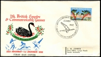 Lot 1082 [3 of 5]:1962 Commonwealth Games set of 25 Pictorial cancels for various events on illustrated covers with Gower address labels.